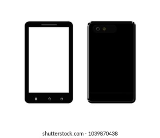 illustration of modern mobile phone isolated on white background. smarphone icon