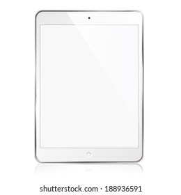 illustration modern tablet on a white background