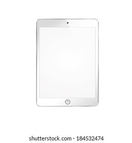 illustration of modern white plate on a white background