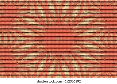Illustration of mosaic images, an abstract pattern kaleidoscope, the finishes of the floors and walls of mosaic materials, decorative fantasy, colorful mosaic texture background color