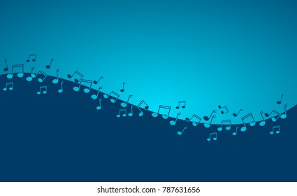 Illustration of music background with music notes