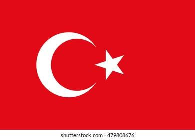 Illustration of the national flag of Turkey