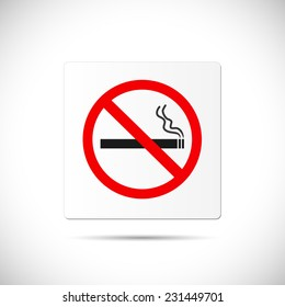 Illustration of a No Smoking sign isolated on a white background.