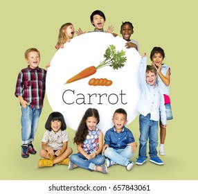 Illustration of nutritious carrot healthy food