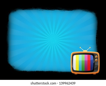 Illustration of an old television with frame