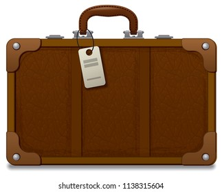 illustration of old vintage style suitcase for travel