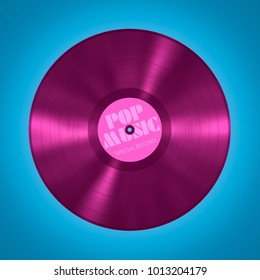 An illustration of an old vinyl record pop music