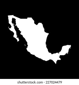 An Illustration on a Black  background of Mexico