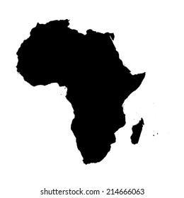 An Illustration on isolated background of the continent of Africa
