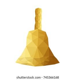 Illustration of origami bell