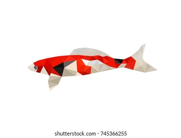 Illustration of origami fish