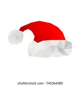 Illustration of origami santa hat