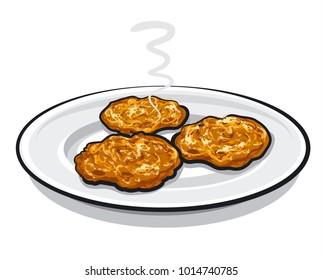 illustration of pancakes