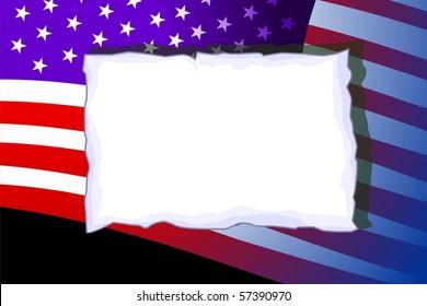 Illustration of paper with flag design