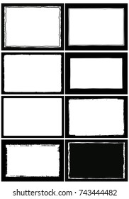 illustration of  photo frame set 08 you can insert your image