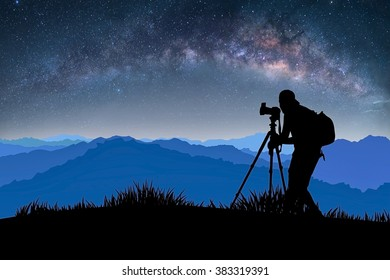 illustration photographers were shooting the Milky Way.