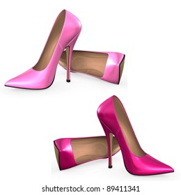 Illustration of pink pumps