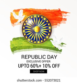 illustration of a poster or banner for indian republic day.