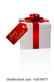 Illustration of a present isolated on white background
