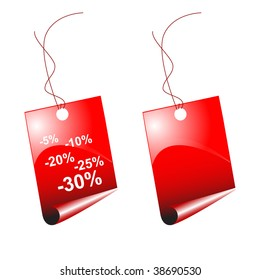 An illustration of price tags, for use with sales, pricing, and blank stationary needs.