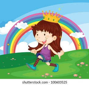 Illustration of princess in the park - EPS VECTOR format also available in my portfolio.