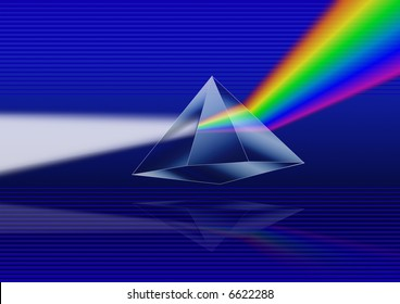 Illustration of a prism refracting light