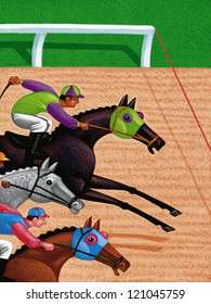 illustration of Race Horses
