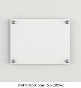 Illustration of Realistic Plastic Plate. Template Icon. 3D Illustration
