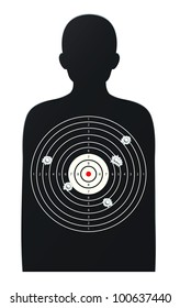 illustration of rifle target game on a white background - EPS VECTOR format also available in my portfolio.