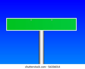 Illustration of the road sign over blue background. There are empty space for your text