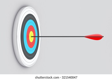 Illustration of the round target with an arrow in the centre