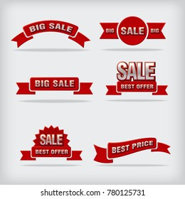 illustration of sale labels