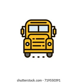 illustration of a  school buss.
