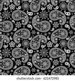 Illustration of seamless paisley pattern.Abstract pattern.