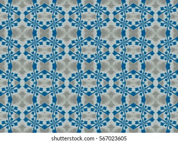 Illustration of seamless tile in blue and gray.