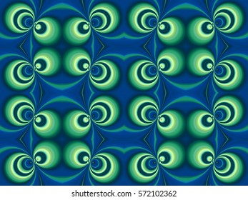 Illustration of seamless tile in blue and green.