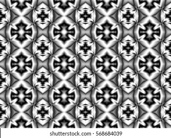 Illustration of seamless tile in classic black and white.