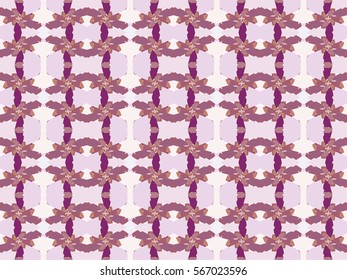 Illustration of seamless tile in pretty pink and mauve.