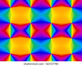 Illustration of seamless tile in rainbow prism colors.