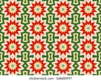 Illustration of seamless tile with red Christmas flowers.