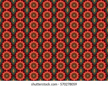Illustration of seamless tile in red and green Christmas colors.
