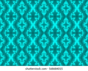 Illustration of seamless tile in shining teal blue