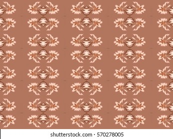 Illustration of seamless tile in soft muted colors.