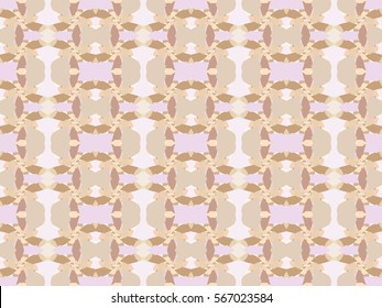 Illustration of seamless tile in soft neutral colors.