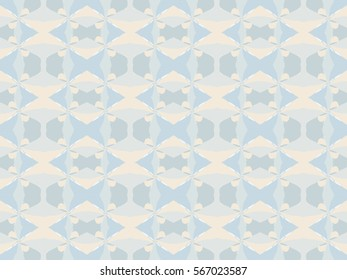 Illustration of seamless tile in soft pastel colors.