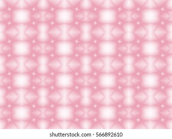 Illustration of seamless tile in soft pink and white.