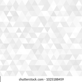 Illustration of Seamless white abstract pattern. Geometric print composed of triangles and polygons. Background