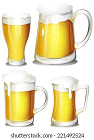 Illustration of a set of beer