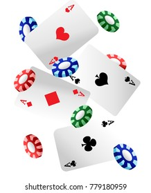 illustration of set of casino icons on isolated white background Web site page and mobile app design illustration.