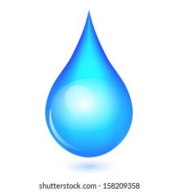 Illustration of shiny drop
